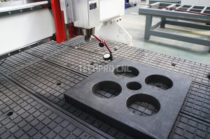 cnc machine spindle and table test