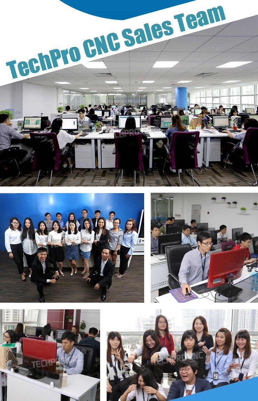 our sales team of cnc machine manufacturer techprocnc