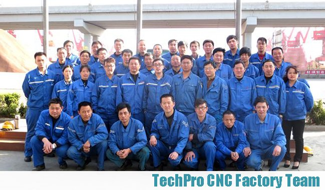 our factory team of cnc machine manufacturer techprocnc