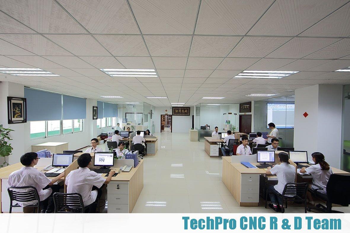 R&D team of cnc machine manufacturer techprocnc