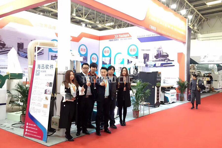 techprocnc cnc router machine exhibition