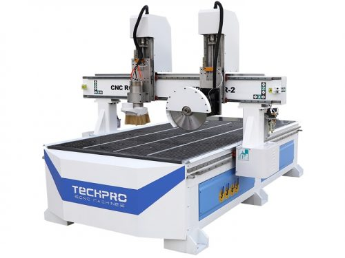 cnc router with saw blade cutting