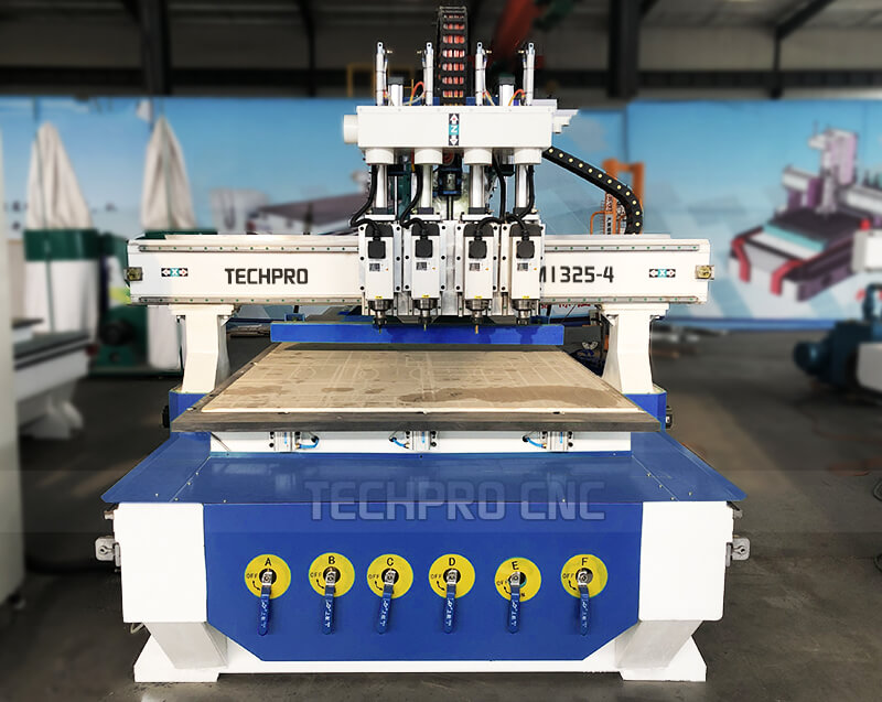 four spindles cnc router machine for woodwroking