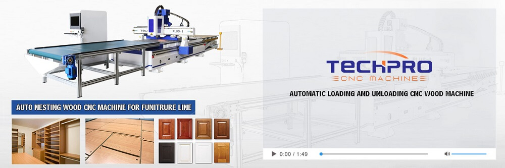 linear atc cnc router machine with auto feeding