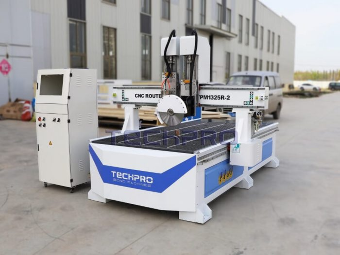techpro cnc router machine with saw blade