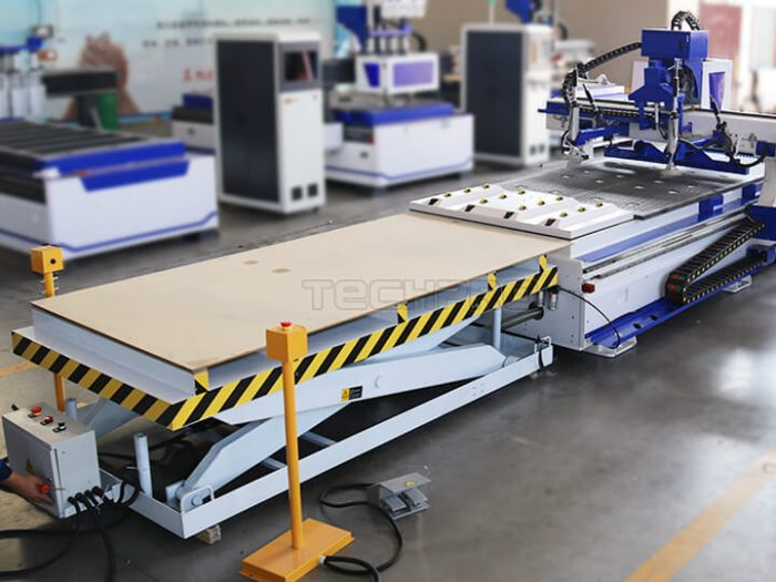 loading table of Custom furniture cnc router