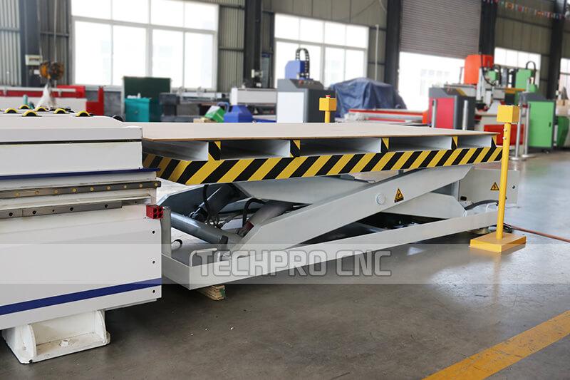 loading table of furniture cnc machine