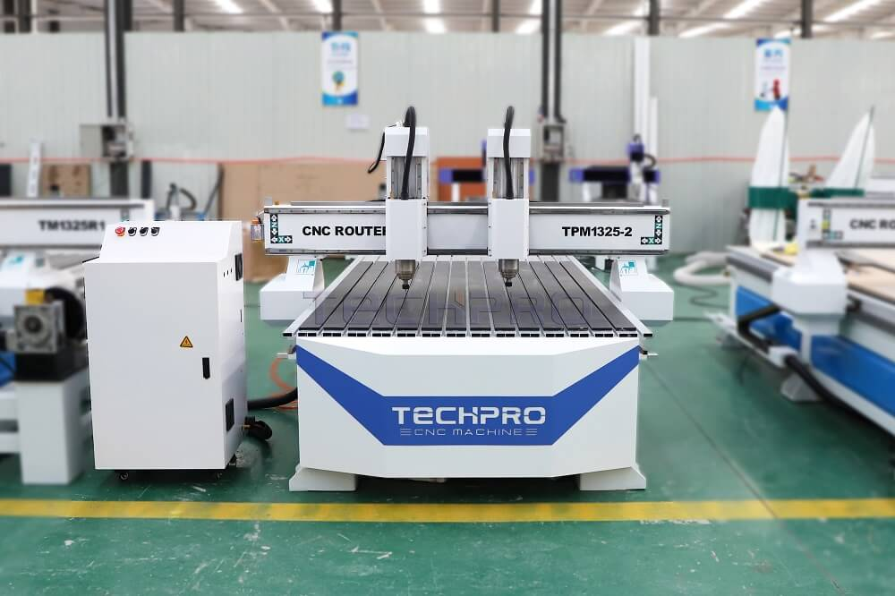 Techpro Double heads cnc router machine price