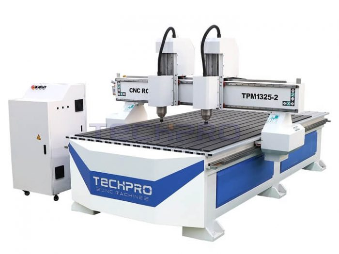cnc router with two heads