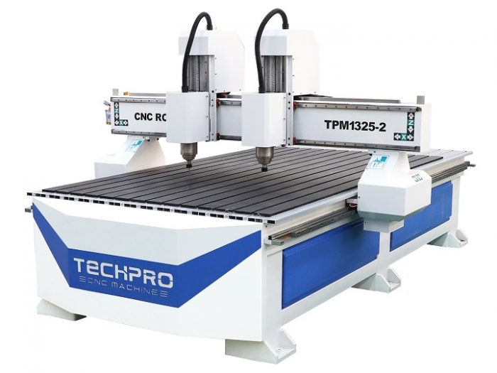 double heads cnc router with two heads