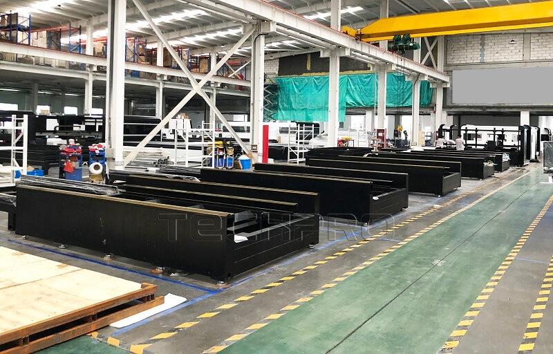 Heavy machien bed for fiber laser machine