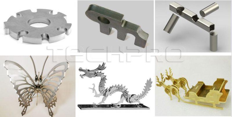 fiber laser cutting machine for metal samples